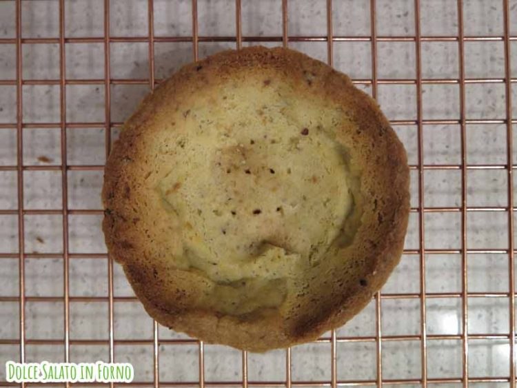 Cottura in bianco crostatina pistacchio