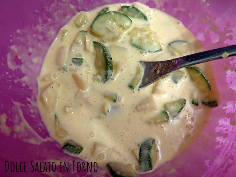 Aggiungere zucchine