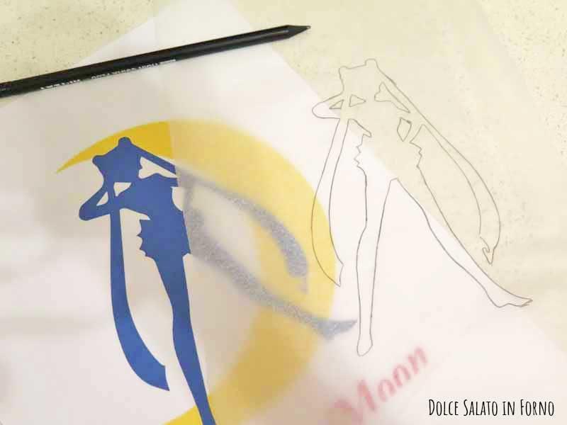 Ricalcare sagoma Sailor Moon