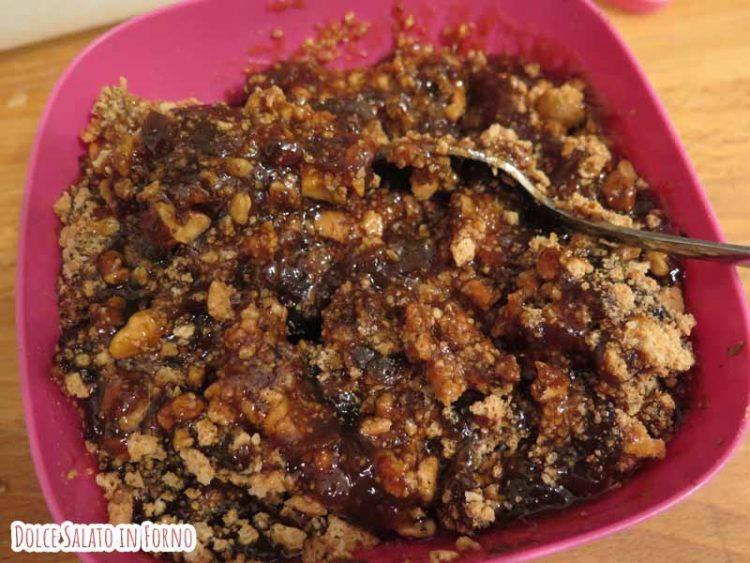 ripieno marmellata fichi, amaretti e noci
