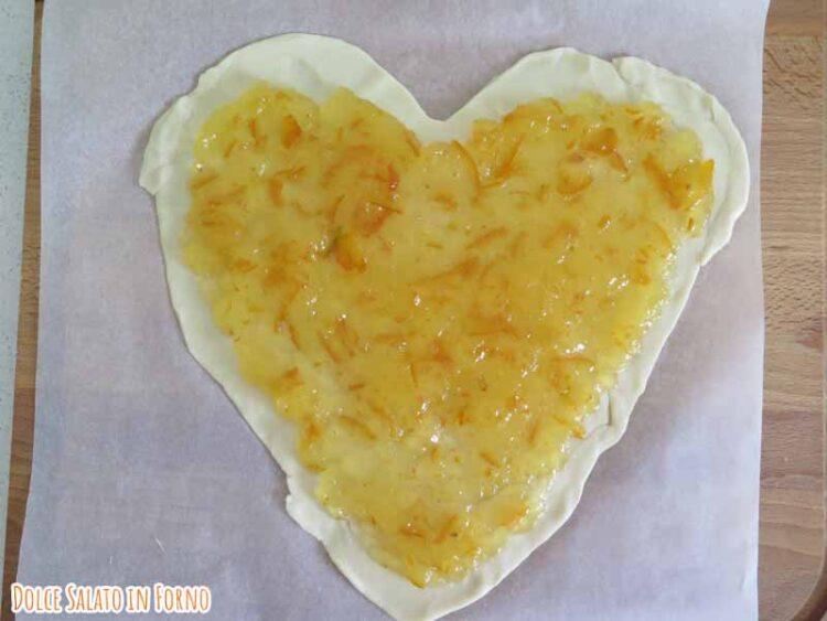 Brisé forma di cuore marmellata