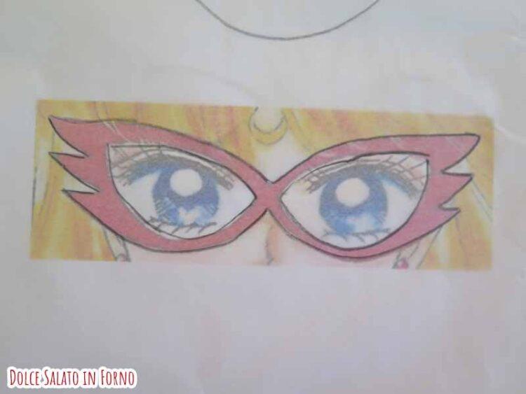 Ricalcare modello mascherina Sailor V