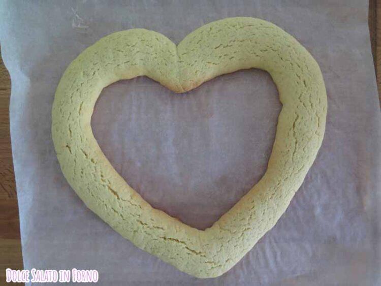 Biscotto morbido a forma di cuore