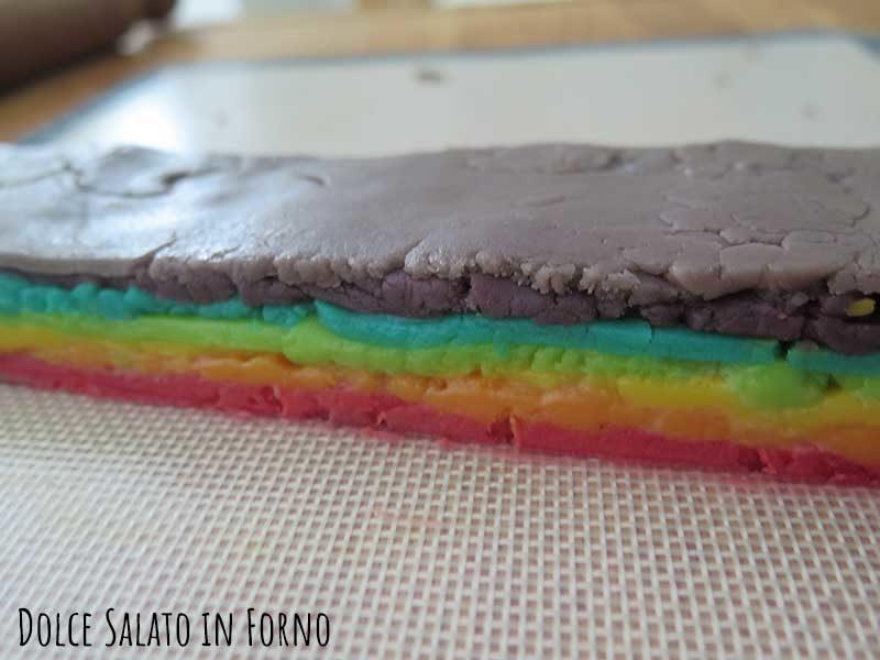 Pila impasti colorati arcobaleno