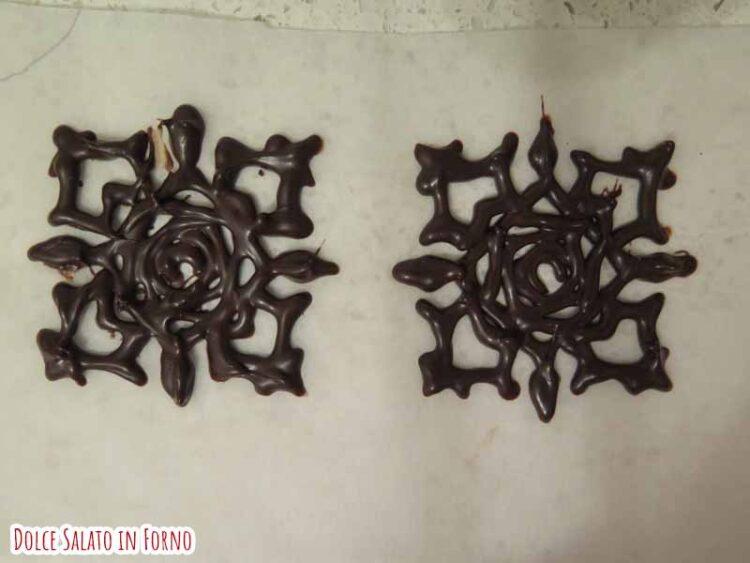 Decorazione cioccolato logo Cross Academy Vampire Knight