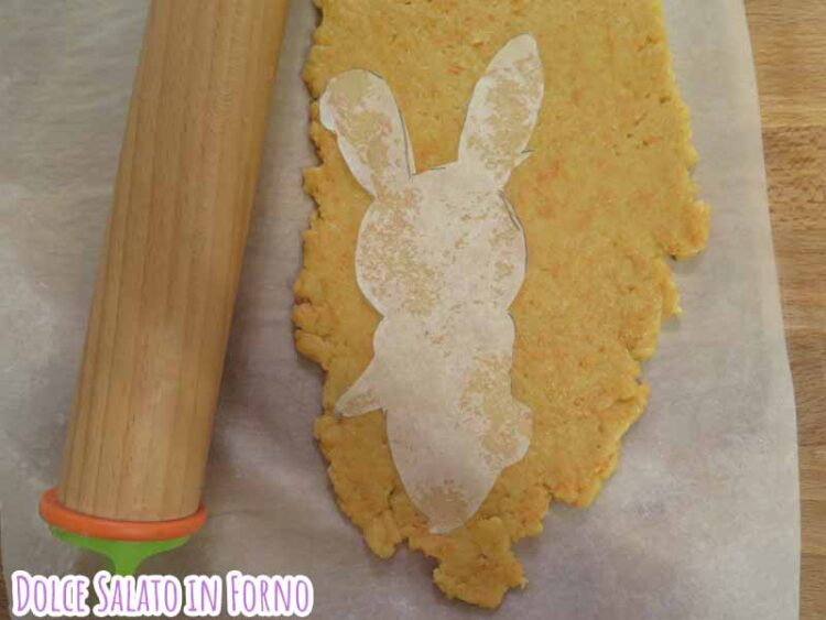Ritaglia biscotto coniglio figura intera