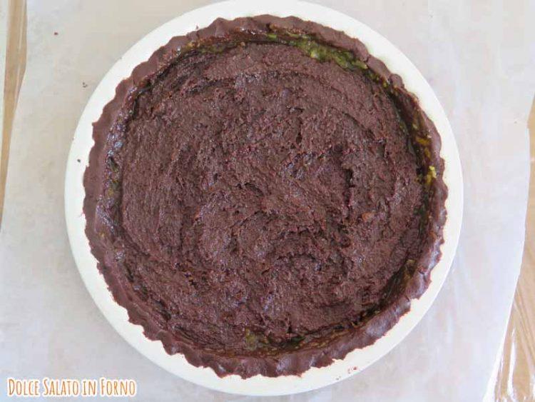 Crostata senza glutine con frangipane al cacao