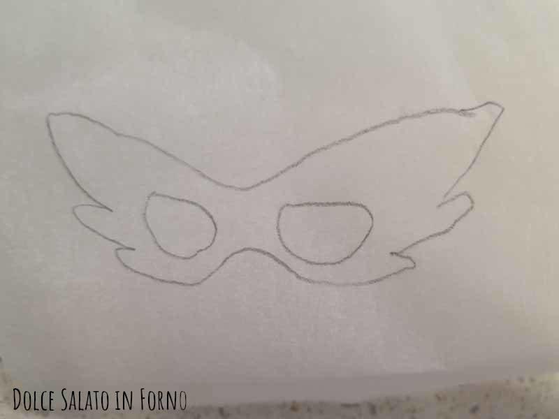 Modello maschera Stella della Senna