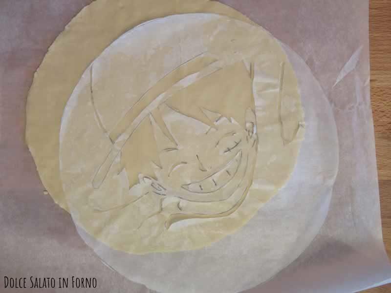 Luffy sagoma per pasta brisé