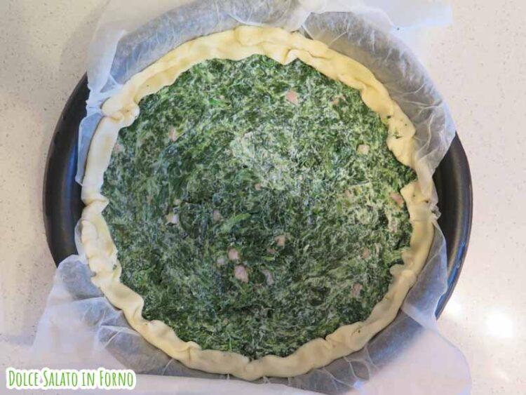 torta salata ricotta spinaci e pancetta