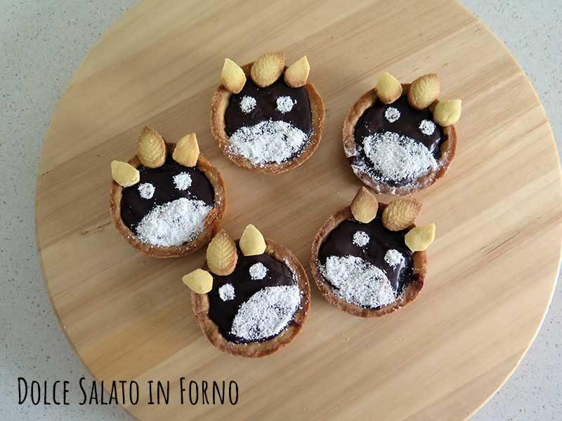 Crostatine Totoro alle pere e cioccolato