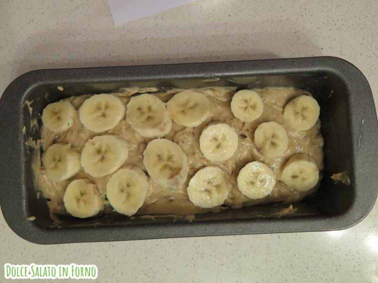 Decorazione banana bread banana rondelle