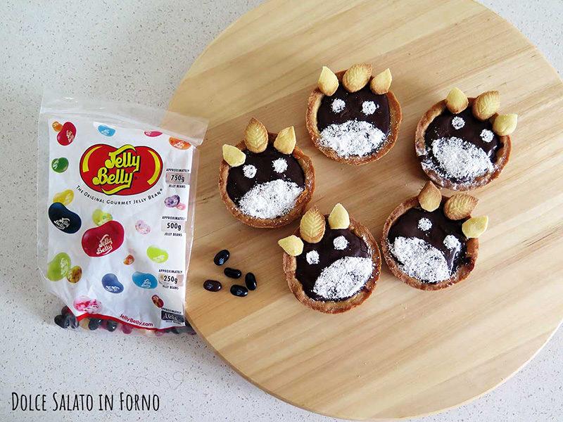 decorare crostatine Totoro con Jelly Beans
