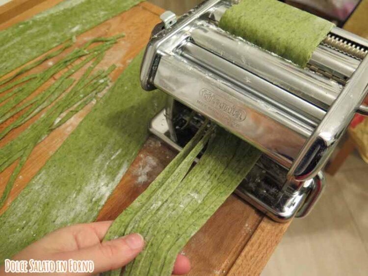 Tagliolini verdi agli spinaci