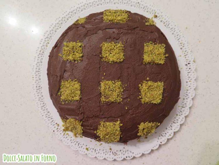 Torta a scacchiera cioccolato e pistacchio