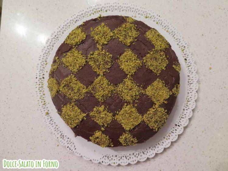 Torta a scacchi pistacchio e cioccolato