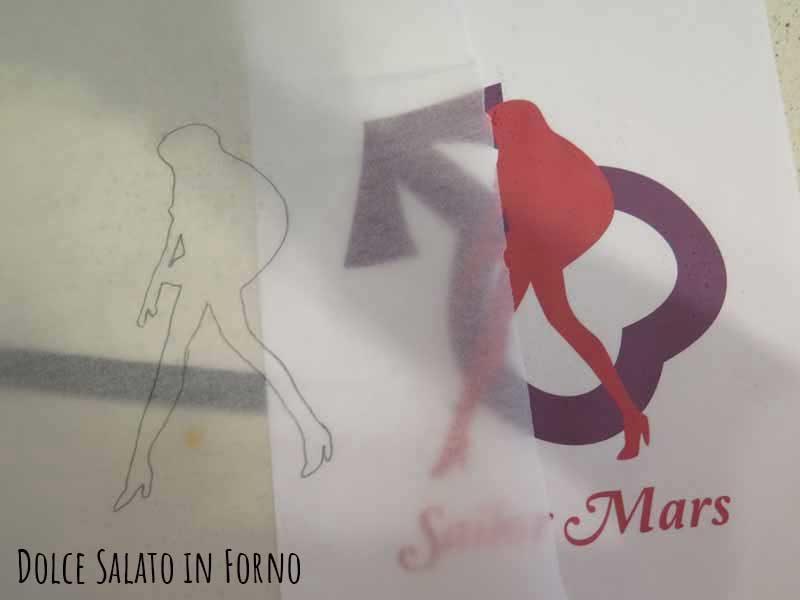 Silhouette Sailor Mars su carta forno
