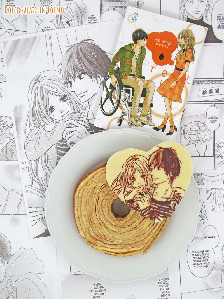 Baumkuchen con decorazione in cioccolato di Itsuki Ayukawa e Kawana Tsugumi
