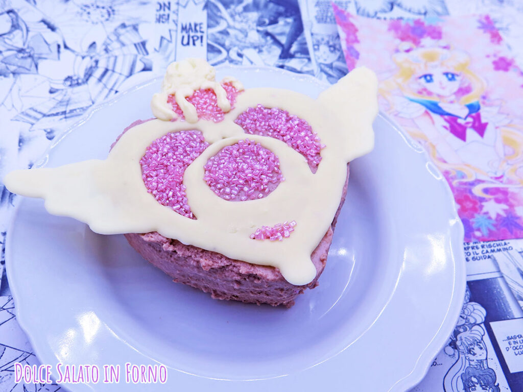 Bavarese ciliegie senza uova di Sailor Moon