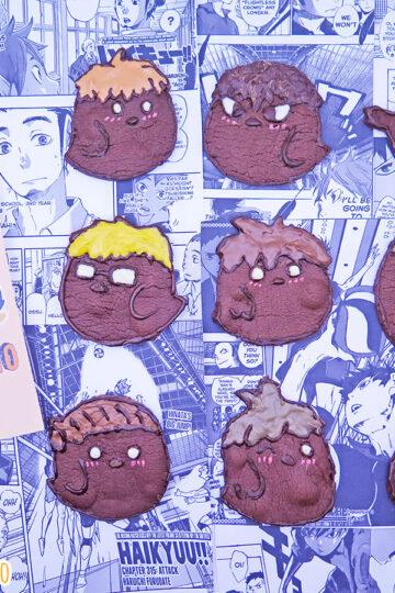 Biscotti al cacao a forma di corvi del Karasuno Haikyu!