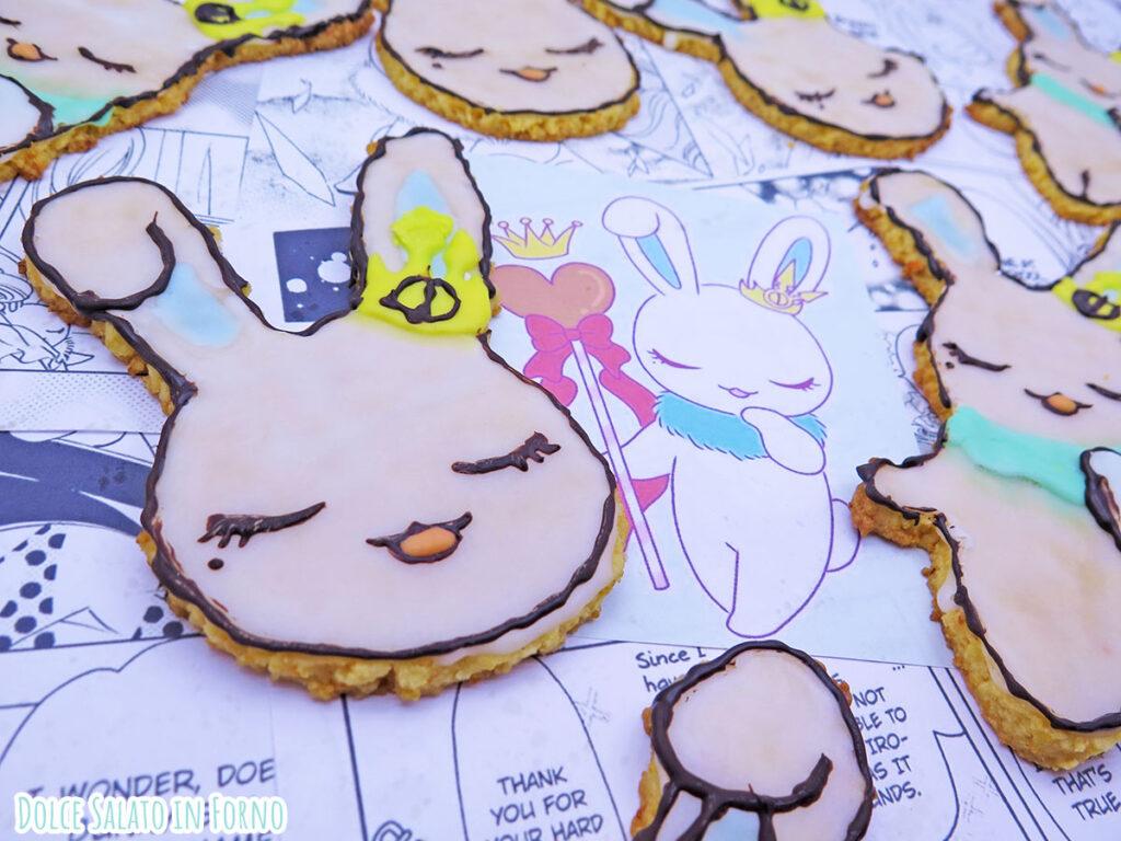 Biscotti alle carote e mandorle a forma di Momo di Card Captor Sakura Clear Card
