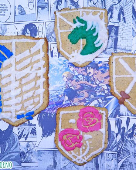 Biscotti natalizi speziati de l'attacco dei giganti