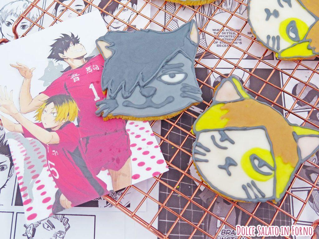 Biscotti Nekoma Kuro e Kenma versione gatto