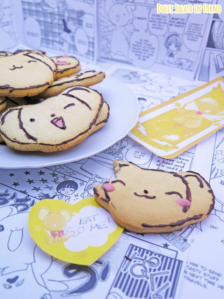 Biscotti alla panna a forma di Kero chan di Card Captor Sakura