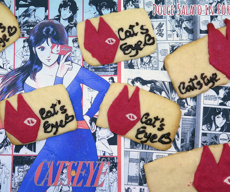 Biscotti shortbread a forma di carta Occhi di Gatto