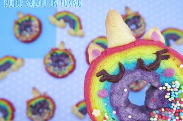 Biscotti arcobaleno unicorno