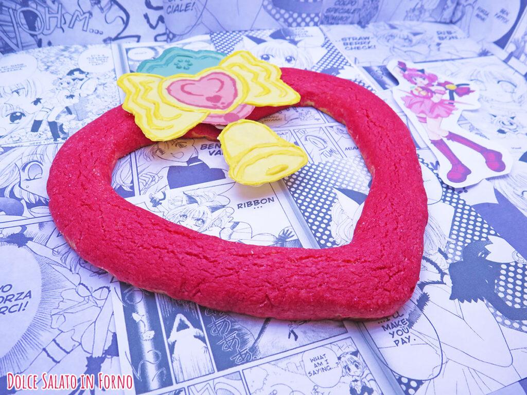 Biscotto morbido all'alchermes a forma di Strawbell Bell di Strawberry Momomiya