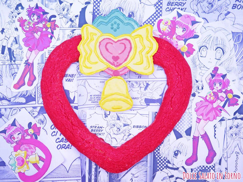 Biscotto morbido all'alchermes a forma di Strawbell Bell di Tokyo Mew Mew