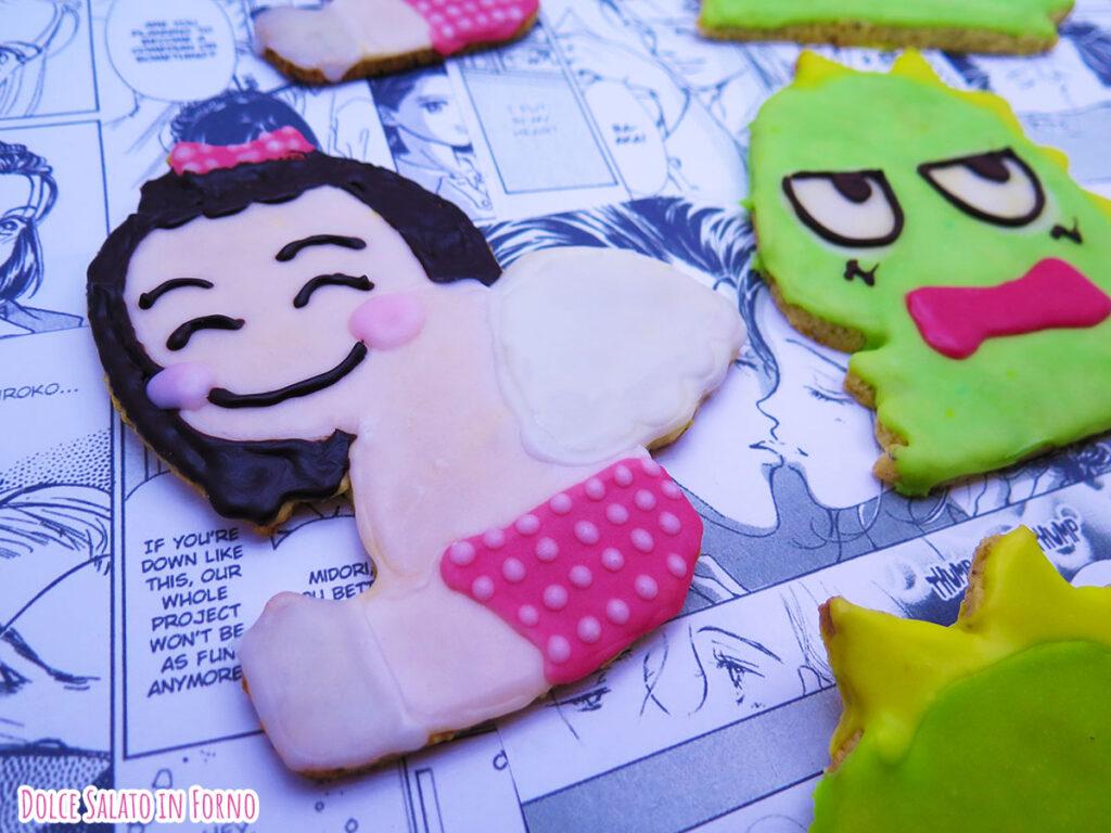 Biscotto al pistacchio glassato a forma di angelo Saejima di Non sono un angelo