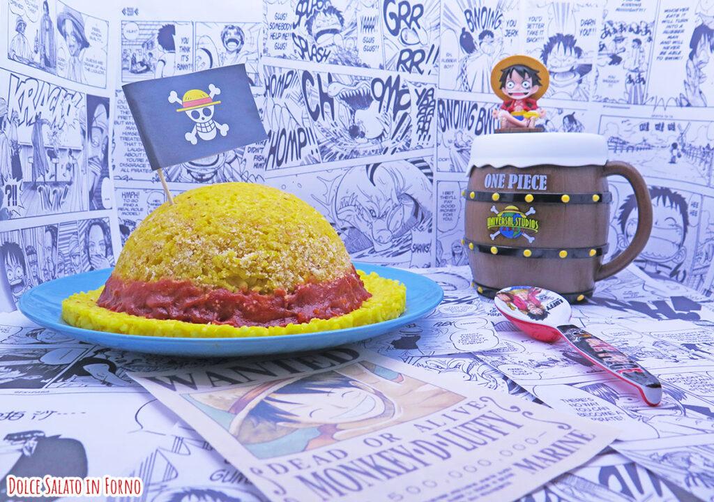 Bomba di riso a forma di cappello di paglia Rufy One Piece