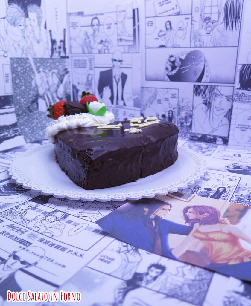 Brownie al cioccolato fondente di Nana Komatsu e Takumi Ichinose di San Valentino