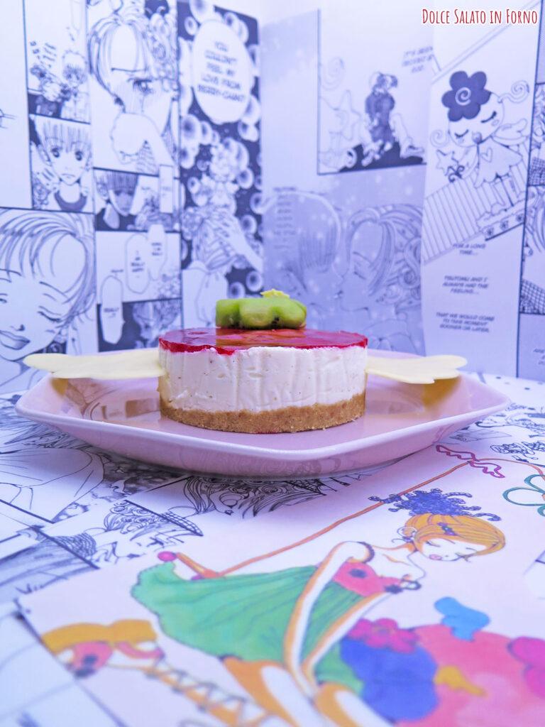 Cheesecake ai lamponi a forma di Happy Berry