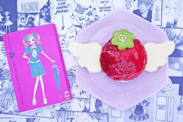 Cheesecake ai lamponi a forma di Happy Berry di Cortili del Cuore