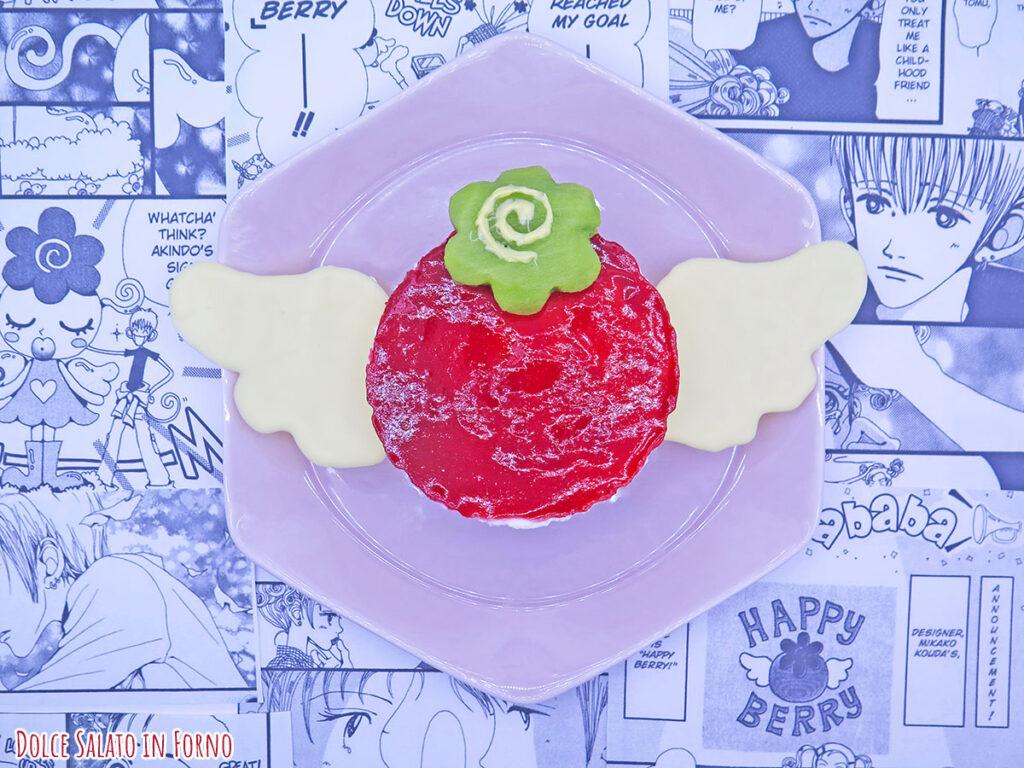 Cheesecake ai lamponi a forma di Happy Berry di Mikako Koda