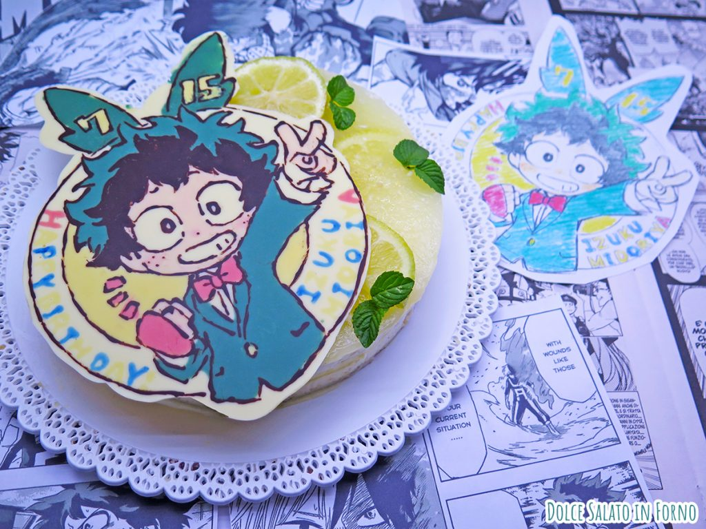 Cheesecake al limone di Izuku Midoriya di My Hero Academia