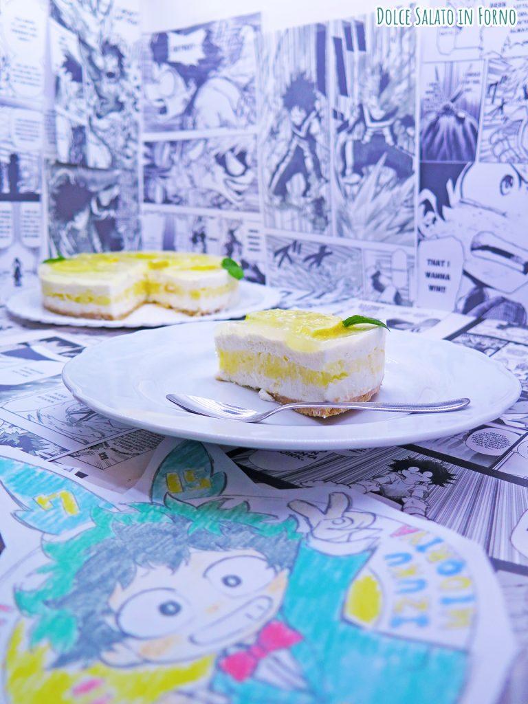 cheesecake al limone con lemon curd