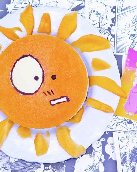 Cheesecake al melone e mascarpone a forma di sole di Pollon