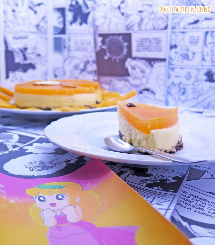 Cheesecake al mascarpone e melone a forma del sole di Pollon