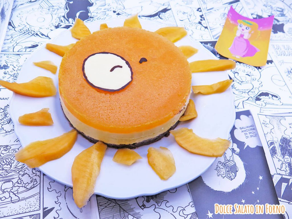 Cheesecake al melone a forma di sole di Pollon