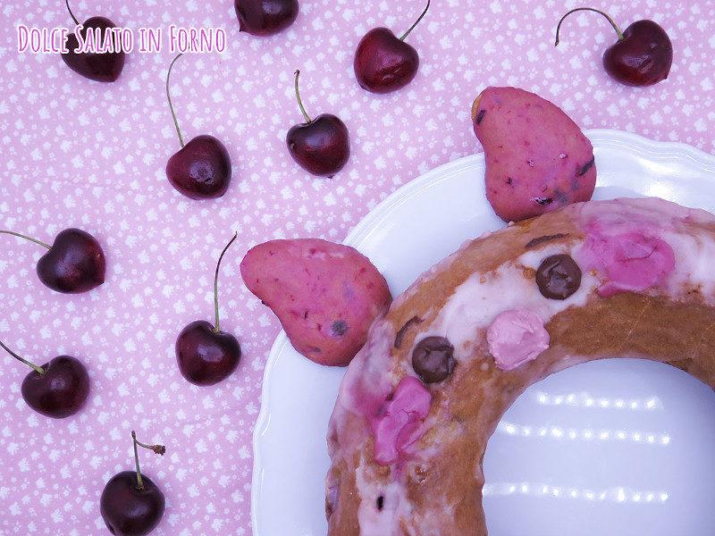 Ciambella alle ciliegie e mandorle di Pimpi