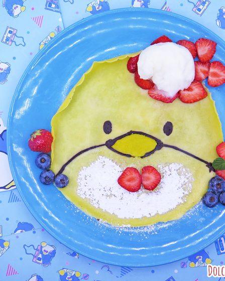 Crepe dolce con gelato di Tuxedo Sam della Sanrio