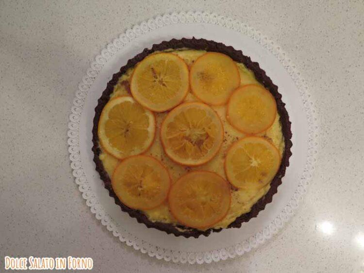 crostata arancia cioccolato e cannella