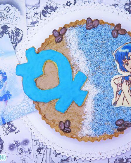 Crostata al cocco, caffè e caramello salato di Sailor Mercury