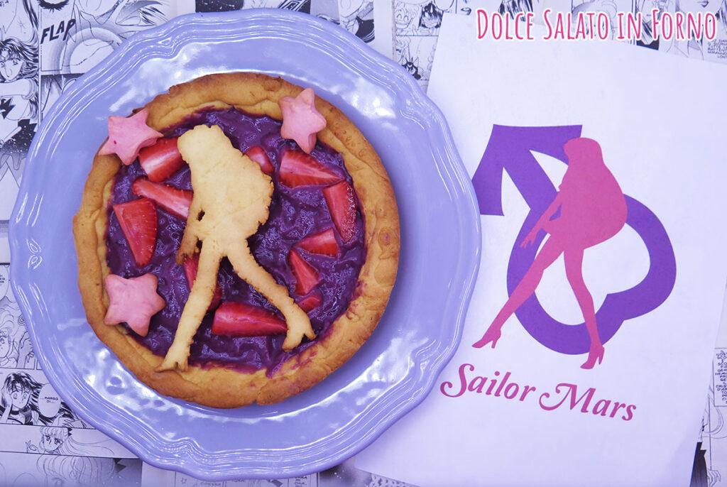Crostata alla crema ai frutti di bosco senza uova e fragole di Sailor Mars