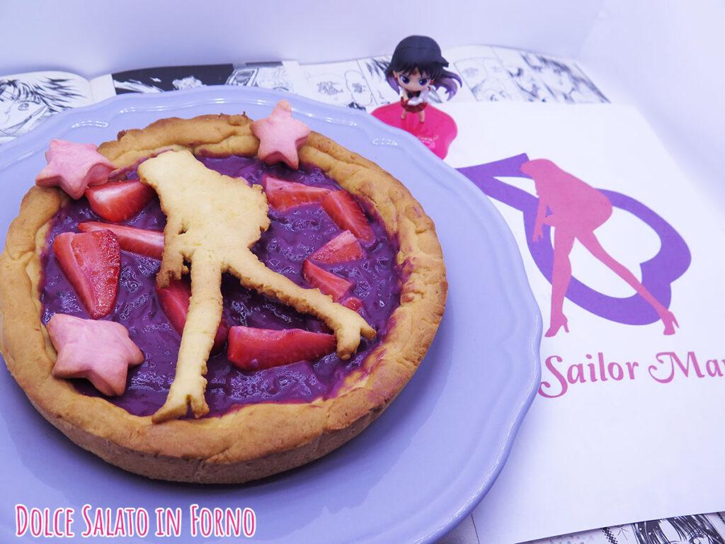 Crostata di Sailor Mars alla crema ai frutti di bosco senza uova e fragole