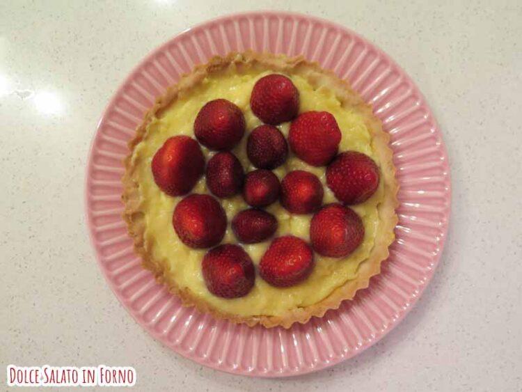 crostata fragole crema pasticcera